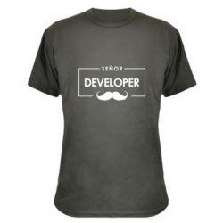 Камуфляжная футболка Senor Developer