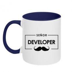 Кружка двухцветная Senor Developer