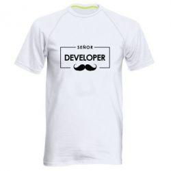 Мужская спортивная футболка Senor Developer