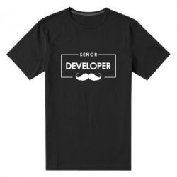Мужская стрейчевая футболка Senor Developer
