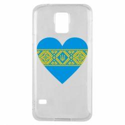 Чехол для Samsung S5 Серце України - FatLine