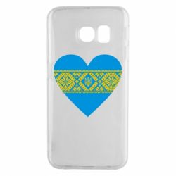 Чехол для Samsung S6 EDGE Серце України - FatLine