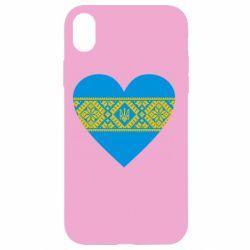 Чехол для iPhone XR Серце України - FatLine