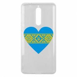 Чехол для Nokia 8 Серце України - FatLine
