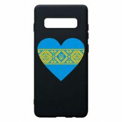 Чехол для Samsung S10+ Серце України