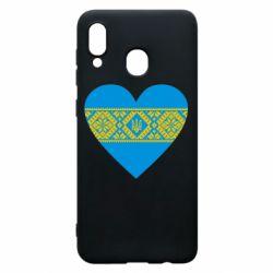 Чехол для Samsung A20 Серце України