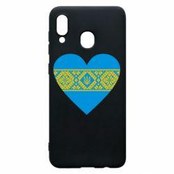 Чехол для Samsung A30 Серце України