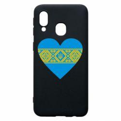 Чехол для Samsung A40 Серце України