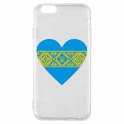 Чехол для iPhone 6/6S Серце України - FatLine