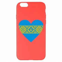 Чехол для iPhone 6 Plus/6S Plus Серце України - FatLine