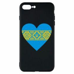 Чехол для iPhone 7 Plus Серце України - FatLine