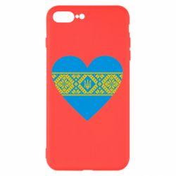 Чехол для iPhone 8 Plus Серце України - FatLine