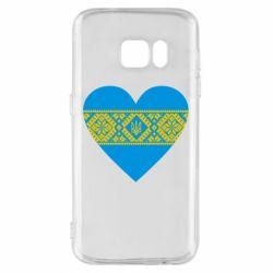 Чехол для Samsung S7 Серце України - FatLine