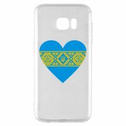 Чехол для Samsung S7 EDGE Серце України - FatLine