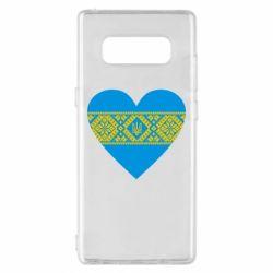 Чехол для Samsung Note 8 Серце України - FatLine