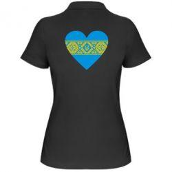 Женская футболка поло Серце України