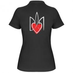 Женская футболка поло Серце з гербом - FatLine