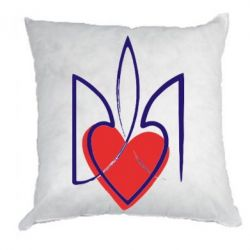 Подушка Серце з гербом - FatLine