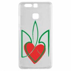 Чехол для Huawei P9 Серце з гербом - FatLine