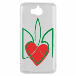 Чехол для Huawei Y5 2017 Серце з гербом - FatLine