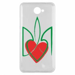 Чехол для Huawei Y7 2017 Серце з гербом - FatLine