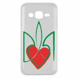Чехол для Samsung J2 2015 Серце з гербом