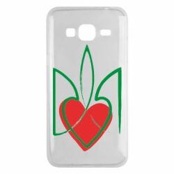 Чехол для Samsung J3 2016 Серце з гербом