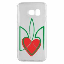 Чехол для Samsung S6 EDGE Серце з гербом