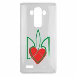 Чехол для LG G4 Серце з гербом - FatLine