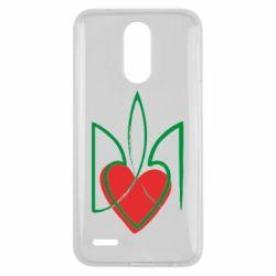 Чехол для LG K10 2017 Серце з гербом - FatLine