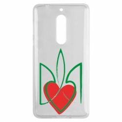 Чехол для Nokia 5 Серце з гербом - FatLine