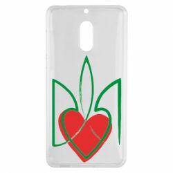 Чехол для Nokia 6 Серце з гербом - FatLine