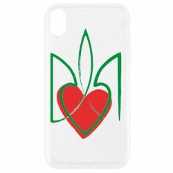 Чехол для iPhone XR Серце з гербом
