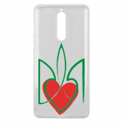 Чехол для Nokia 8 Серце з гербом - FatLine
