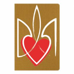 Блокнот А5 Серце з гербом