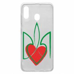 Чехол для Samsung A20 Серце з гербом