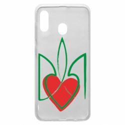 Чехол для Samsung A30 Серце з гербом