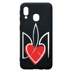 Чехол для Samsung A40 Серце з гербом