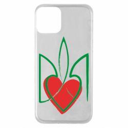 Чехол для iPhone 11 Серце з гербом