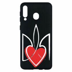 Чехол для Samsung M30 Серце з гербом