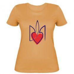 Женская футболка Серце з гербом - FatLine