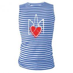 Майка-тельняшка Серце з гербом - FatLine