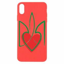 Чехол для iPhone X/Xs Серце з гербом