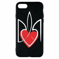 Чехол для iPhone 8 Серце з гербом