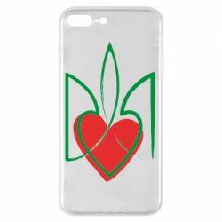 Чехол для iPhone 8 Plus Серце з гербом