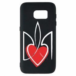 Чехол для Samsung S7 Серце з гербом