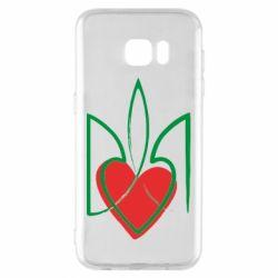 Чехол для Samsung S7 EDGE Серце з гербом
