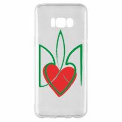 Чехол для Samsung S8+ Серце з гербом