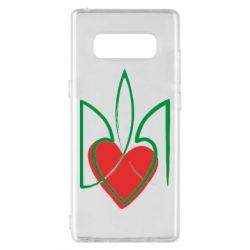 Чехол для Samsung Note 8 Серце з гербом