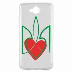 Чехол для Huawei Y6 Pro Серце з гербом - FatLine